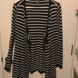 Black & white stripe cardigan